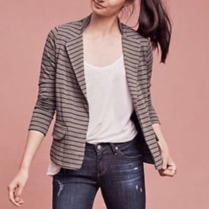 Anthropologie Dolen striped blazer medium brown